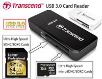Brand New Transcend RDF5 USB 3.0 Card Reader All in 1 SD microSD microSDHC Micro SD card reader Muti Memory Card Reader usb 3.0
