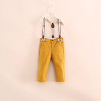 F16e081103 14 new autumn Counters fabrics detachable suspenders boy overalls  foreign trade children's clothes