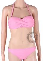 2015 promotion solid cotton holiday sale fashion brand for woman sexy bikini with pad hot swimsuits ladies swimwear beachwear
