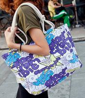 new Cotton canvas bags women shoulder bags high quality women handbag 2014 free shipping