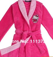 2014 Hot Selling Top Quanity Kids Girls Bathrobe Roseo Child Robe Coral Fleece Thickening Winter Pajamas For Child Sleepwear