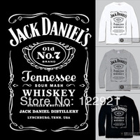 High Quality Jack Daniels OEM Brand Hot-Selling 100% Cotton Printing Casual Loose Fashion T-shirt Tee Camiseta Dress 3#