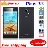 original iNew V3 5.0inch Android 4.2 mobile phone Quad Core 1.3Ghz MTK6582 1GRAM 16GROM 13.0Mp 1280x720 NFC OTG