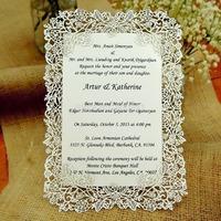 Laser cut rose vine wedding invitation card (Invitation card+Insert card+Envelope/ full Set)