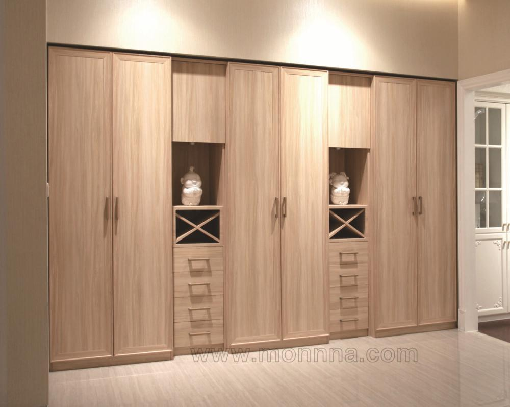 Melamine MDF Wood Gain Bedroom Wardrobe Closet in