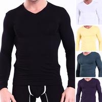 WJ 2014 New Men's Thermal Underwear Soft Modal Long Johns Tops Men Warm Pajamas Autumn Winter Fashion Undershirts Free shipping!