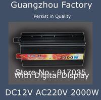 12V 220V 2000W,Power Inverter Car Accessories,Battery Inverter,12V 220VCar Battery Charger 2000W,Car Tools ,With Digital Display
