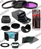 Filter Kit UV CPL FLD  +   Gradual Grey  Blue Filter Set  + 52mm Petal-Shaped Lens Hood For Nikon D5200 D5100 D3200 D3100 F8