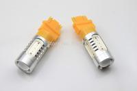 2pcs/Pair 3157 3156 Power 5 SMD Car FRONT/REAR Turn Signal Bulb 7.5W LED Yellow Amber 12V