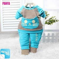 1 set retail 2014 autumn kids sets baby boys girls clothes kitty children suits child suit cotton sports clothing PANYA CTY06