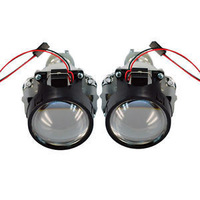 "New Single2*2.5"" Car Xenon Mini Bixenon HID 35W Clear Projector Lens Shroud Headlight H1Free Shipping In Stock"
