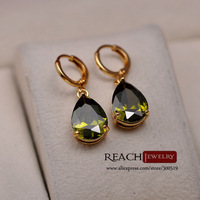 T90046 Drop shipping 18K Gold earrings Fashion Jewelry 18K Women's jewelry Crystal earrings for women