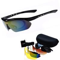 Fashion Cycling Sports Sunglasses Outdoor Men Women Motorcycle Bike Bicycle Cycling Black Eyewear Sun Glasses 5 Lenses Occhiali