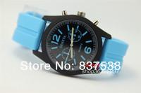 Geneva Watch Unisex Casual Quartz Wristwatch men women Analog wristwatches Sports Fashion Watches candy color Silicone watches