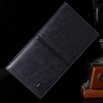 famous brand men's wallet leather with Flip up ID Window Черный Коричневый walle