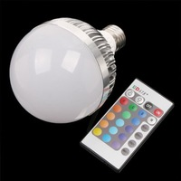 Free shipping ,New arrival 12W E27 high quality RGB LED bulbs  with 16key IR remote control