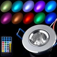 Free shipping,New arrival 5W high quality RGB LED spotlight  with 16key IR remote control