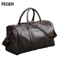 2014 fashion luxury genuine leather classic brown cowhide handbag bags luggage men travel bags