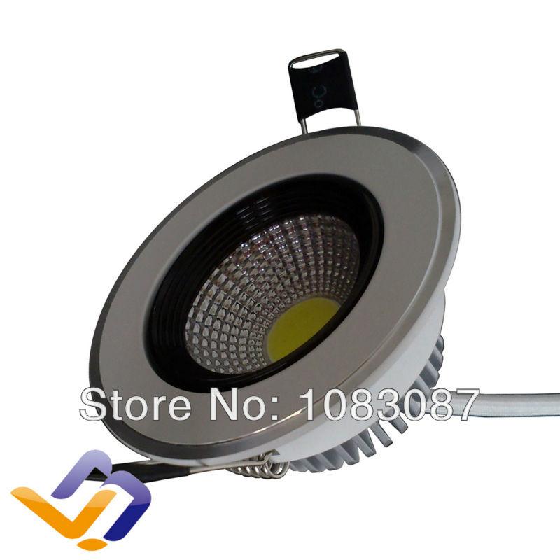 Free shipping! 8pcs/lot 4W high power recessed COB Led Down lamp 2700-7000K Energy Saving home Led lighting ceiling lights(China (Mainland))