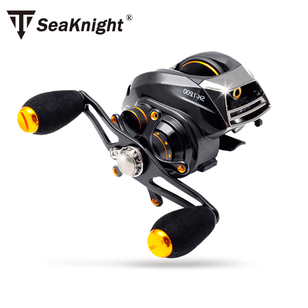SeaKnight Brand SK1200 Dual Control System Baitcasting fishing reel 14 ball bearings 215g carp fishing gear Right/Left Hand(China (Mainland))
