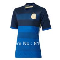 wholesale Top Thailand Original player Version Argentina Kit Away Outdoor Soccer Jersey 2014 World Cup Futbol Camisetas