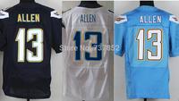Wholesale Authentic Elite American Football Jersey San Diego #13 Keenan Allen Jersey Dark Blue White Light Blue Free Shipping