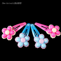Wholesale 40pcs Mixed Lot One Card Kid Children Girl Flower Hair Pin Clips Free Shipping