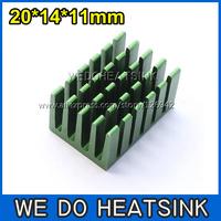 FREE Shipping 10pcs 20x14x11mm Aluminum Profil Aluminium Heat Sink Cooling System Radiator