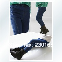 Free Shipping 2014 Spring / Autumn Kids Girls Jeans Pants Classic Style Children Trousers Baby Girls Jeans 100-140cm K2014005