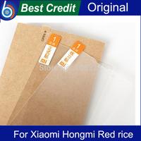 Freeshipping 2pcs 100% original screen protector film for Xiaomi Red Rice 1S Wcdma phone xiaomi hongmi film protector /Kate