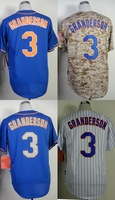 New York #3 Curtis Granderson Men's Authentic Cool Base Alternate Black/Alternate Road Blue/Home Cream Baseball Jersey