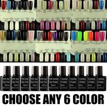 ANY 6 in 84 colors UV Led Soak-Off  Shellac Gel Polish Nail Art 10ml(China (Mainland))