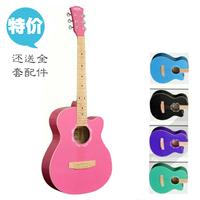 39 pink guitar girls guitar maple fingerplate cutaway guitar purple multicolour Sky Blue