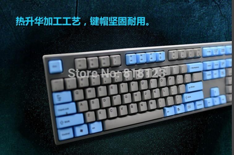new model keycool dye sublimation 108 mechanical keyboard PCB plate cherry mx switches dyesub gaming full size PBT keycap(China (Mainland))