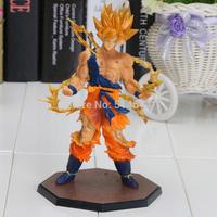 1 piece 17cm 6.7 inch  Dragon Ball Z Super Saiyan Goku PVC Action Figure Toy  DBFG071 retail