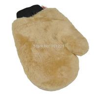 High Quality 100% Genuine Sheepskin Wool Car Wash Mitt Car Cleaning Supplies Car Wash Kits,Free shipping