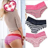 Girls' VS/Pink  Low waist  Briefs / Women Cotton Underwear/ Young Ladies'  Seamless Panties 5pcs/lot