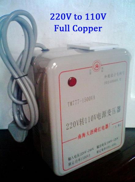 1500W AC Toroidal Power Converter 220V <-> 110V,Full Copper Voltage Converter Adapter Transformer Inverter,Oblique Flat Blade(China (Mainland))