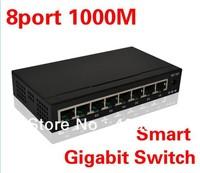 New brand 8 Port 10/100/1000M Base Gigabit Ethernet Network Switch high performance Smart Gigabit Switch EU/US plug FreeShipping