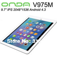 ONDA V975m bluetooth Tablet PC android 4.3 Quad Core Amlogic 9.7 InchRetina 2GB RAM 32GB