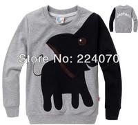 Children's sweater Clothes baby boy girl's tops t shirt Sweatshirts lovely cartoon black colors Sweatshirts free shipping