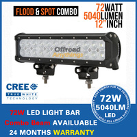 "72W 12"" 5700LM Cree Led Work Light Bar Lamp Car Truck Boat ATV Bright 24X3W LED Offroad Working Light FREE FAST SHIP"