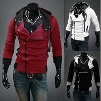 New 2014 Autumn&Winter Fashion Slim Sweatshirt Outerwear Jackets Men Causal Sports Hoodies Survetement M-6XL