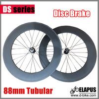 Disc brake road 88mm tubular bicycle wheels 700c carbon fiber disc brake road bike racing wheelset