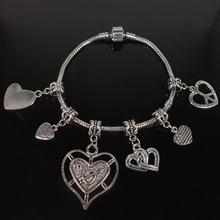Fashion  gifts Tibetan Silver Christmas Charm dangle bead Custom Bracelet PB0001–PB0015
