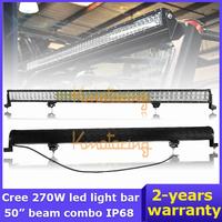 "50"" Cree Led light bar 270W 4WD Pickup Flood Spot Combo Wagon Camper off-road lamp car 4x4 LED Work light SUV 24V/12V Buggy"