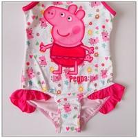 2014 New peppa pig swimsuit Peppa swim peppa pig swimwear girls swimsuit Bikini Swimming Beachwear