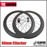 SUPER!! Ceramic Bearing Road Bicycle Carbon Wheels clincher 60mm racing bike wheelset