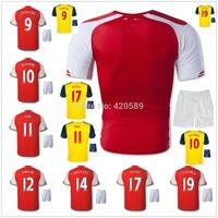 14/15 OZIL ALEXIS home away soccer jersey kits, 2015 best quality football jerseys uniforms jerseys