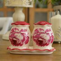 High quality ceramic seasoning bottle sauce pot seasoning cans pepper pot set